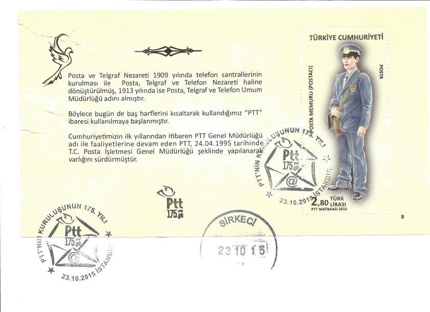 Posta Memuru resimli ilk gün zarfı