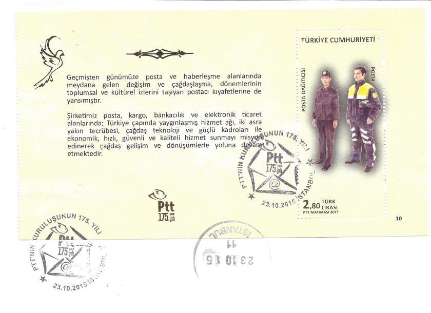 Posta Dağıtıcısı resimli ilk gün zarfı