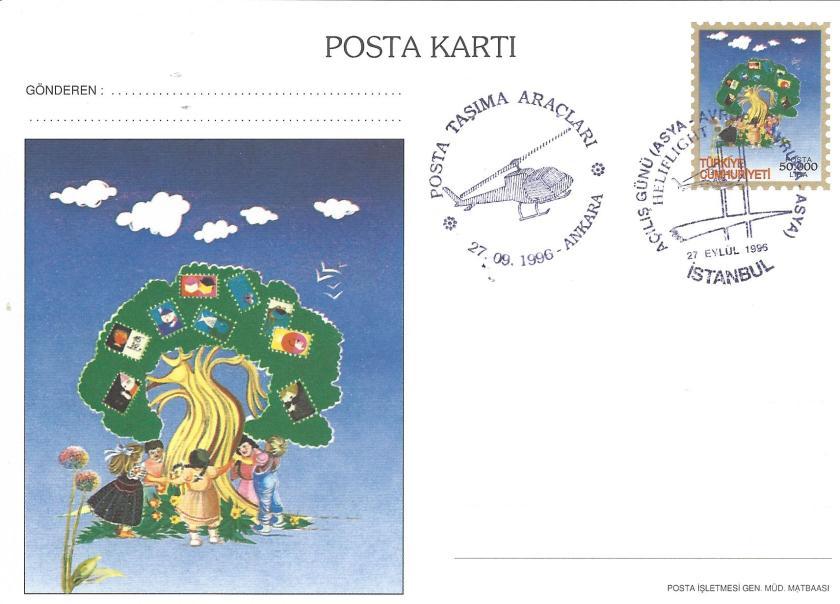 İstanbul '96 sergisi sevgi ağacı temalı antiye kart