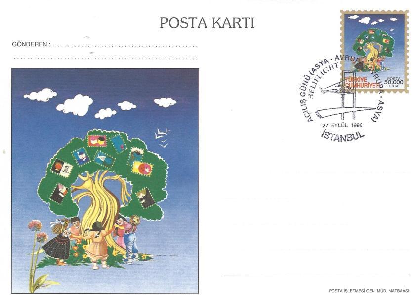 İstanbul '96 sergisi açılış günü damgası