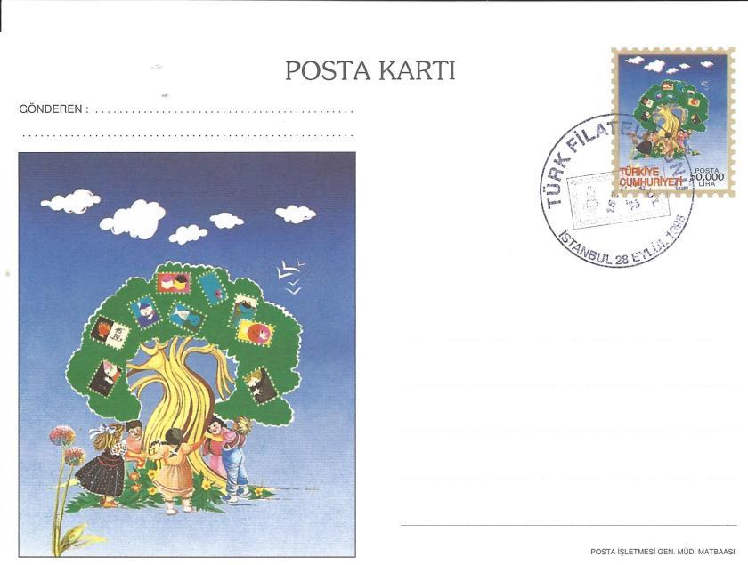 İstanbul '96 sergisi Türk filateli günü damgası