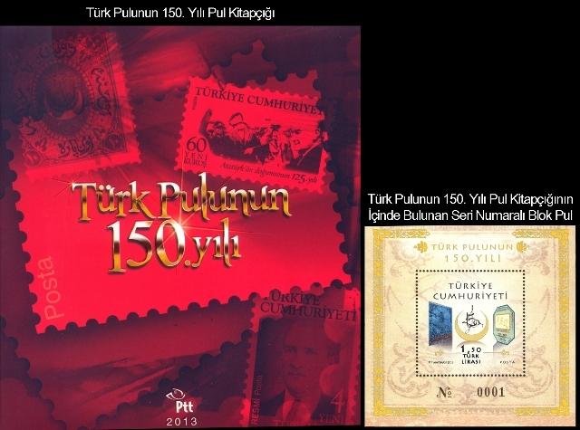 Türk pulunun 150. yılı pul portföyü