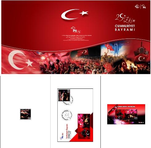 2016 Cumhuriyet Bayramı pul portföyü