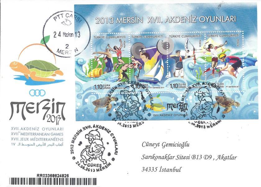 Akdeniz Oyunları Güreş damgası Adana