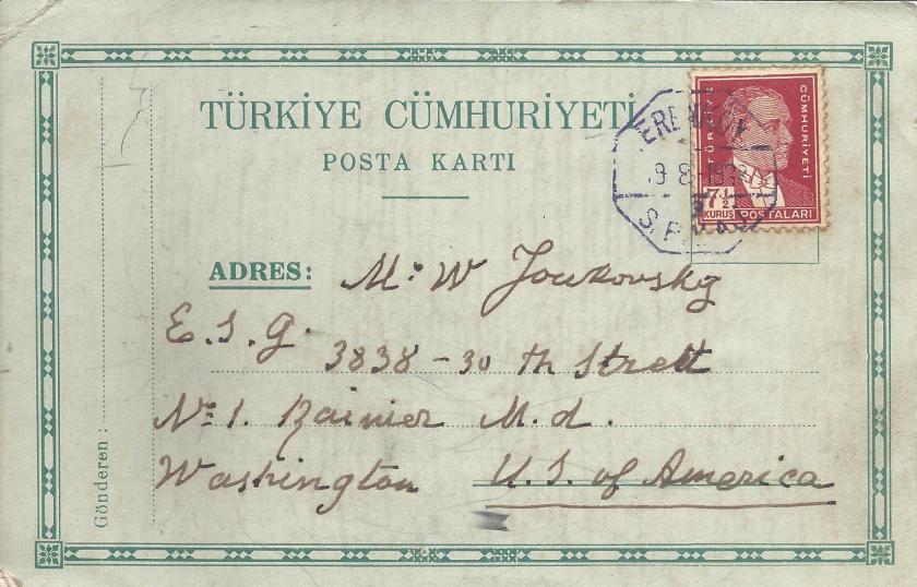 Pul yapıştırılarak kullanılması gereken PTT formüler posta kartı