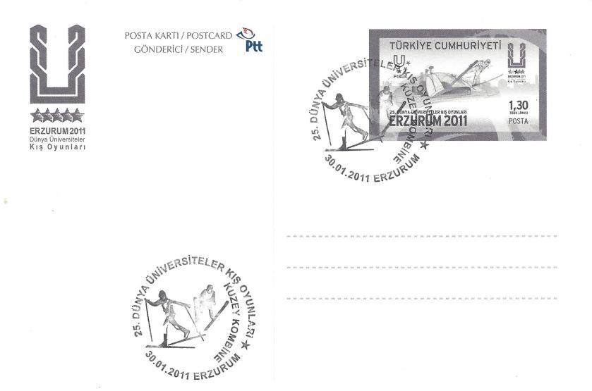 2011 Erzurum oyunları kuzey kombine damgası