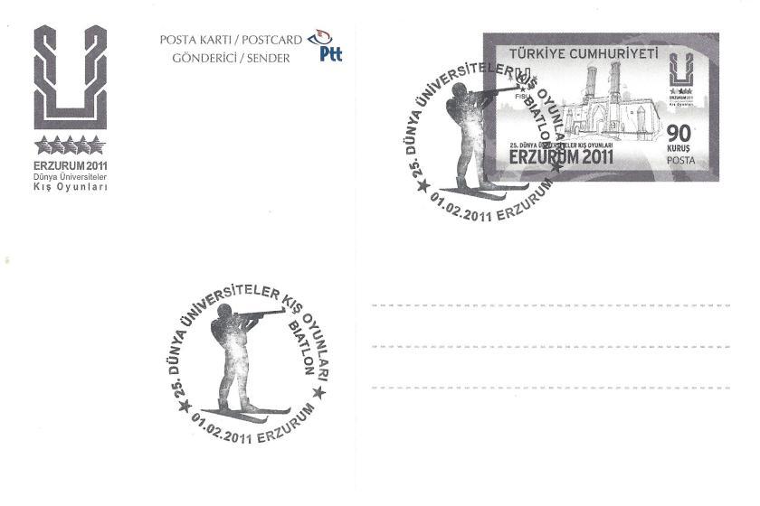 2011 Erzurum oyunları biatlon damgası