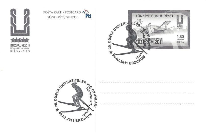2011 Erzurum oyunları serbest stil kayağı damgası
