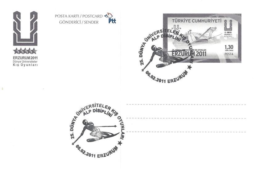 2011 Erzurum oyunları alp disiplini damgası