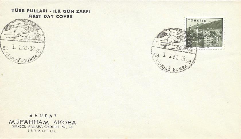 Uudağ -Bursa turistik damga - 1961