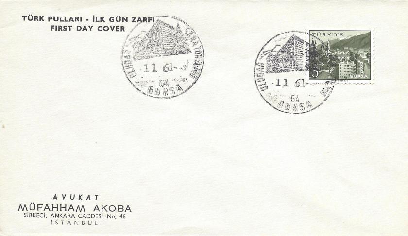 Uludağ sanatoryumu - Bursa turistik damga - 1961
