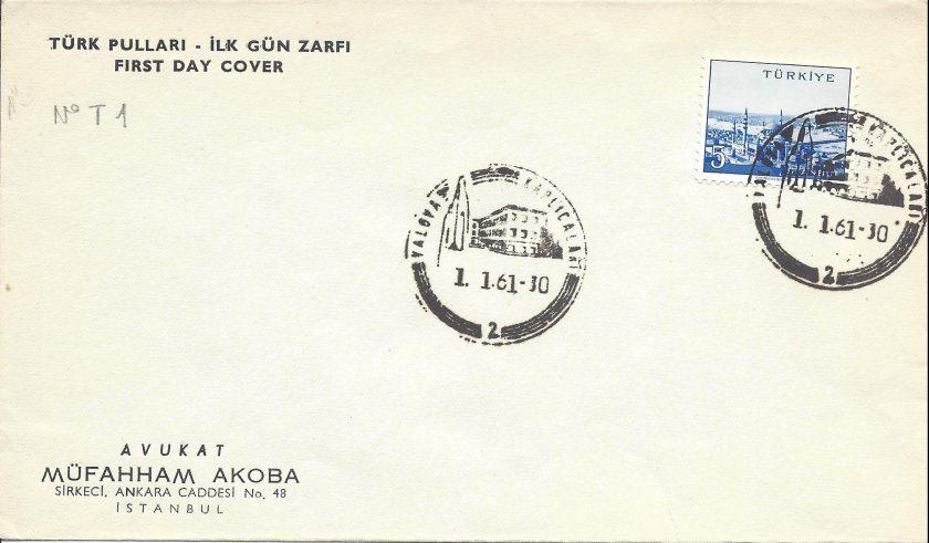 Yalova kaplıcaları turistik damga - 1961