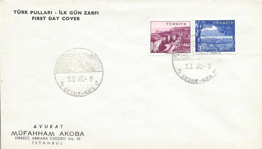 Çeşme - Ilıca turistik damga - 1961