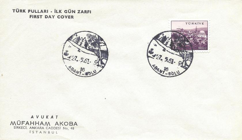 Abant - Bolu turistik damga – 1961