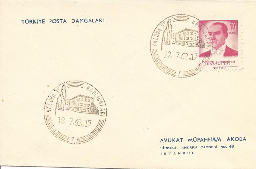 Yalova kaplıcaları turistik damga - 1962