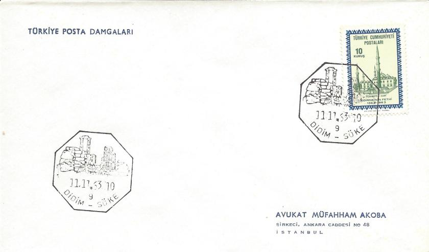Didim - Söke turistik damga - 1963