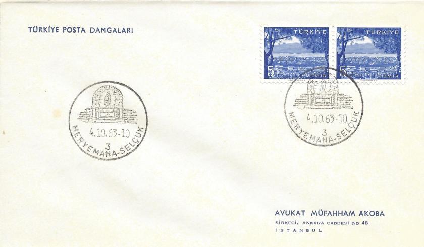 Meryemana - Selçuk turistik damga - 1963