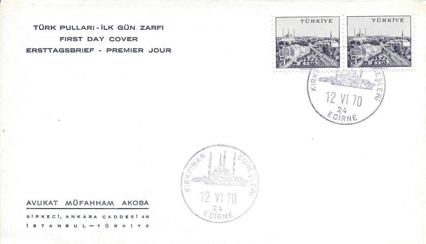 Kırkpınar güreşleri- Edirne turistik damga 1970