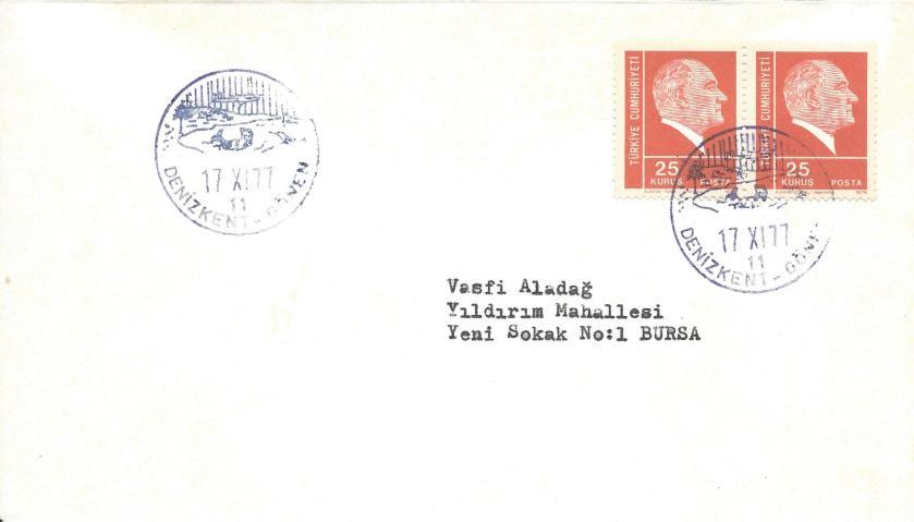 Denizkent - Gönen turistik damga - 1977