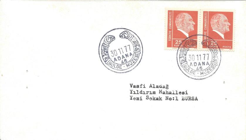 Bölge müzesi - Adana turistik damga - 1977