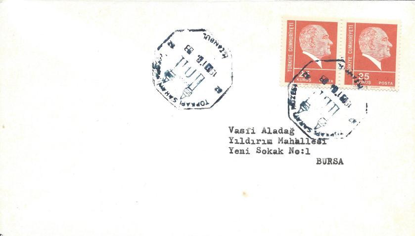 Topkapı sarayı müzesi turistik damga - 1973