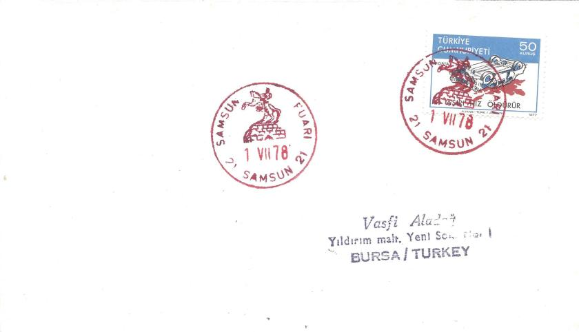 Samsun fuarı turistik damga - 1978
