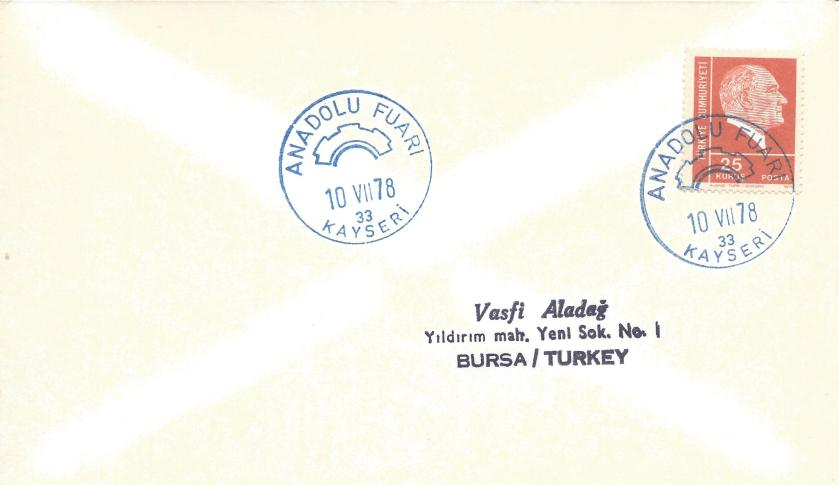 Anadolu fuarı- Kayseri turistik damga - 1978