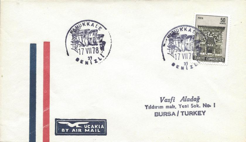 Pamukkale- Denizli turistik damga - 1978
