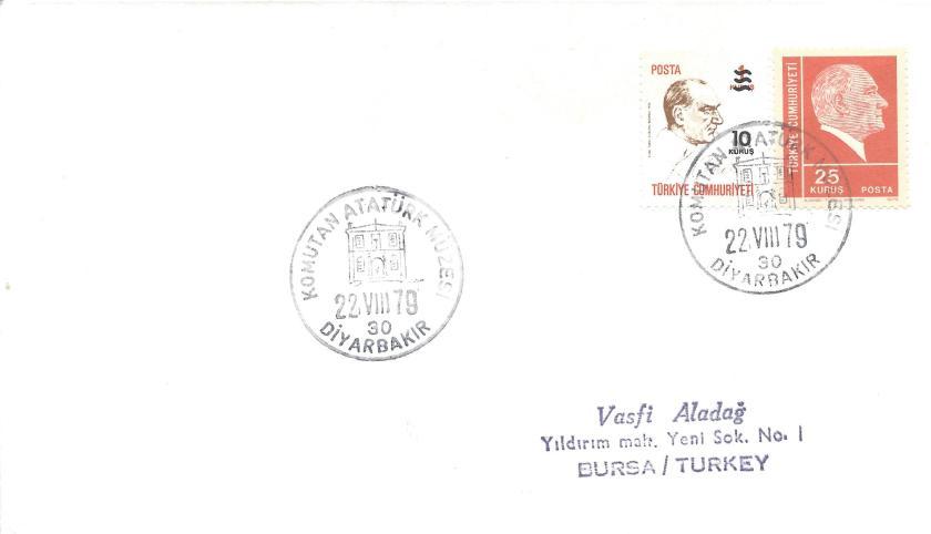 Komutan Atatürk müzesi - Diyarbakır turistik damga 1979
