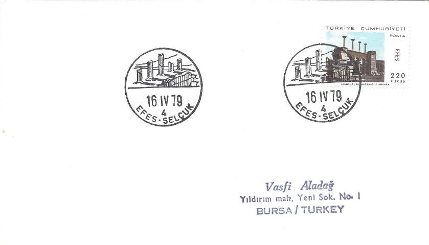 Efes- Selçuk turistik damga - 1979