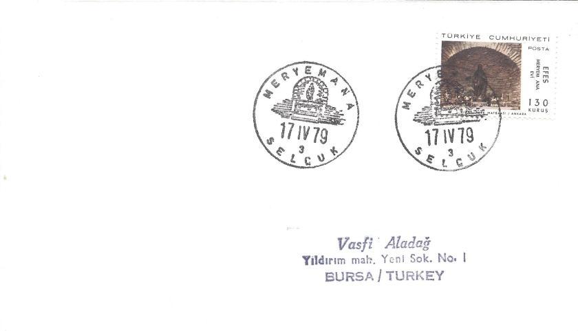 Meryemana-Selçuk turistik damga - 1979