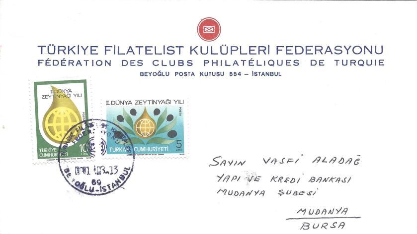 Türkiye filatelist kulüpleri federasyonu resimli damga - 1963