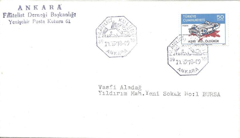 Ankara filatelist kulubü resimli damga - 1978