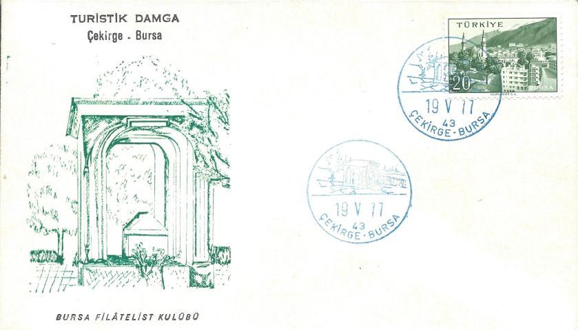 Çekirge-Bursa turistik damga - 1977
