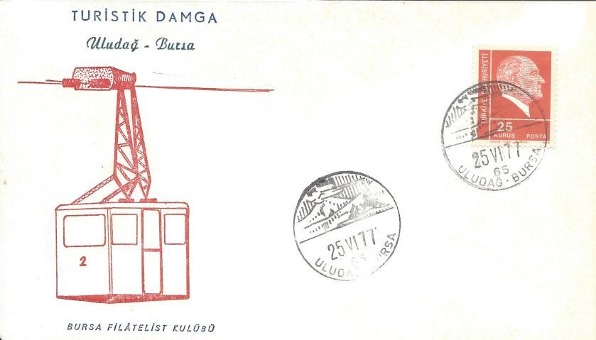 Uludağ-Bursa turistik damga - 1977