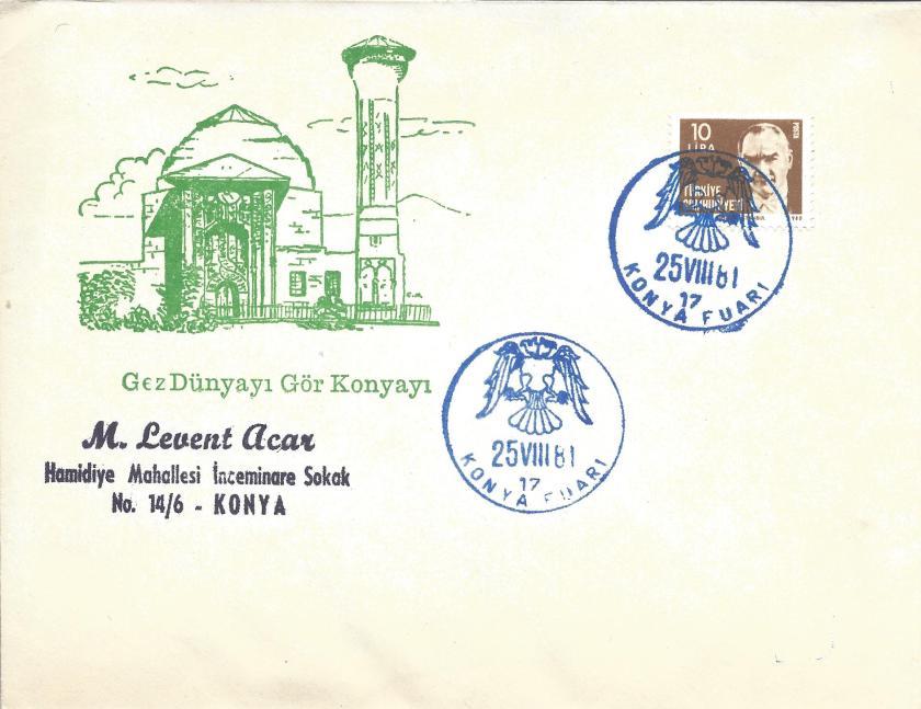 Konya fuarı turistik damga - 1981
