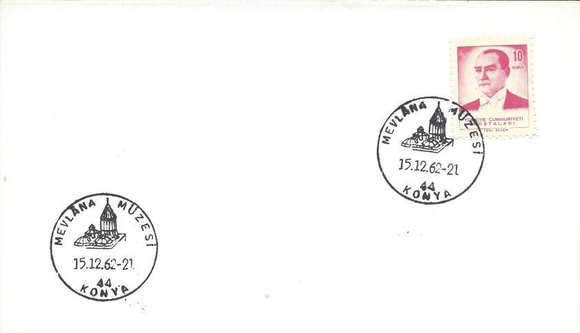 Mevlana müzesi turistik damga - 1962