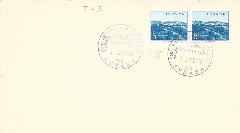 Ankara 65 Türkiye milli pul sergisi resimli damga - 1965