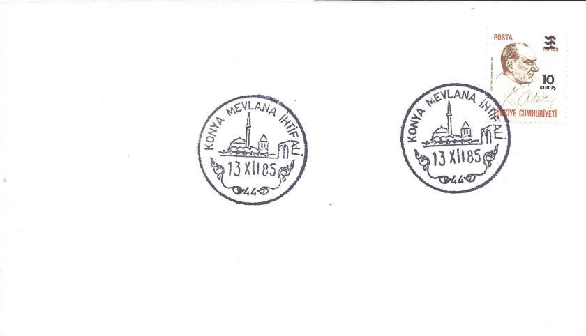 Konya Mevlana ihtifali turistik damga - 1985
