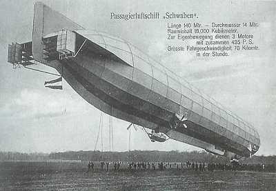 1912 Hava postası taşıyan LZ 10 hava gemisi