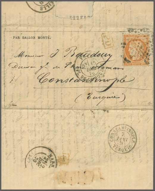 1870'de İstanbul'a gelmiş Ballo Monte hava postası