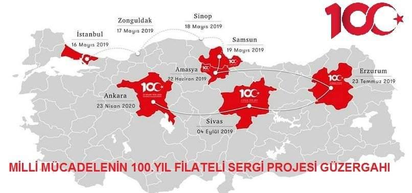 Milli Mücadelemizin Yüzüncü yılı Filateli Sergisi Projesi Sergi yerleri